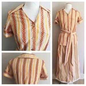 Vintage Southwestern Skirt/Blouse Set